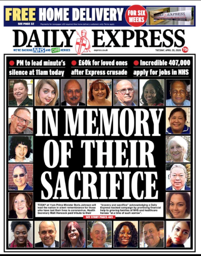 in memory of their sacrifice